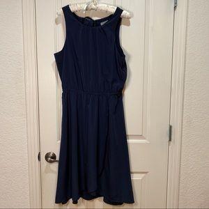 Athleta Silk Style Dress Like New Medium Navy Blue